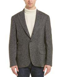 Brunello Cucinelli Wool & Silk-blend Blazer - Gray