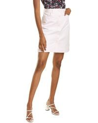 Brooks Brothers Button-front Mini Skirt - Pink