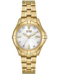 Citizen - Women's Eco-drive Diamond Watch - Lyst
