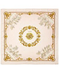 """Hermès """"cosmos,"""" By Philippe Ledoux Silk Scarf - Pink"""