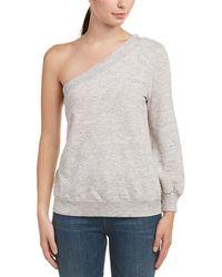 Splendid One-shoulder Sweater - Gray