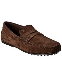Tod's City Gommino Suede Loafer - Brown