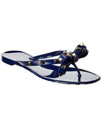 Valentino Rockstud Rubber Thong Sandal - Blue