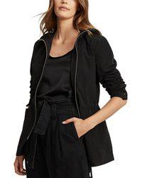 Reiss Blythe Short Parka Jacket - Black