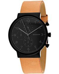 Skagen Denmark Men's Ancher Watch - Black