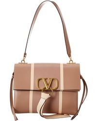 Valentino V-ring Leather Shoulder Bag - Multicolour