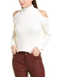 Nicholas Cold-shoulder Wool-blend Sweater - White