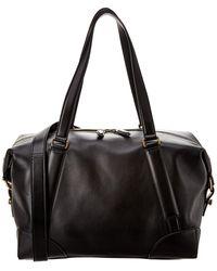 Ferragamo Fashion Show Reversible Leather Duffel Bag - Black