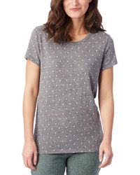 Alternative Apparel Ideal Printed Eco-jersey T-shirt - Gray