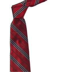 Brooks Brothers Red And Blue Stripe Silk Tie