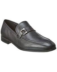 Ferragamo Leather Loafer - Black
