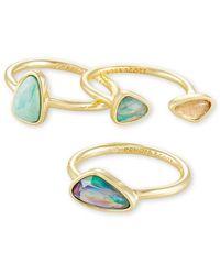 Kendra Scott - 14k Plated Ivy Ring Set - Lyst