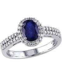 Rina Limor 10k 1.31 Ct. Tw. Diamond & Sapphire Ring - Blue