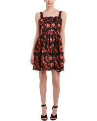 Romeo and Juliet Couture Floral A-line Dress - Black