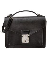 Louis Vuitton Black Epi Leather Monceau