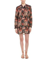 Tolani Natasha Silk Shift Dress - Brown