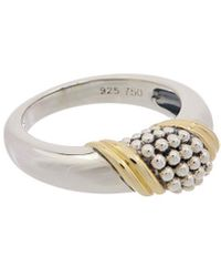 Lagos Organic Caviar 18k & Silver Ring - Metallic