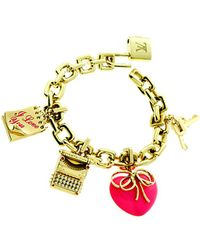 Louis Vuitton - Louis Vuitton 18k & 0.35 Ct. Tw. Diamond Padlock Charm Bracelet - Lyst