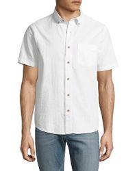 Tailor Vintage - Cotton Seersucker Sportshirt - Lyst