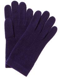 Portolano Cashmere Gloves - Purple