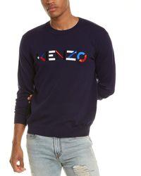 KENZO Embroidered Crewneck Jumper - Blue