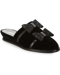 Aperlai Embellished Slides - Black
