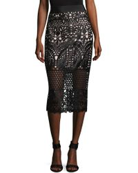 Ted Baker - Neoma Lace Pencil Skirt - Lyst