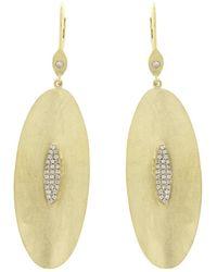 Meira T 14k 0.18 Ct. Tw. Diamond Earrings - Metallic