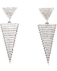 Arthur Marder Fine Jewelry Silver 1.75 Ct. Tw. Diamond Earrings - Metallic