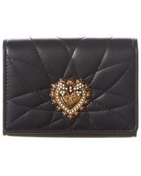 Dolce & Gabbana Devotion Quilted Leather Wallet - Black