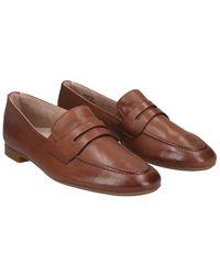 Paul Green Bonnie Leather Flat - Brown