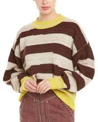 Isabel Marant Etoile Glowy Striped Alpaca-wool Sweater - White