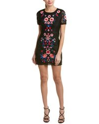 Romeo and Juliet Couture Lace Sheath Dress - Black