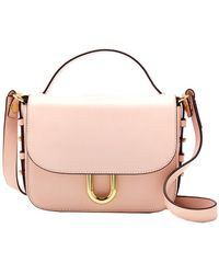 J.Crew Contemporary Leather Crossbody - Pink