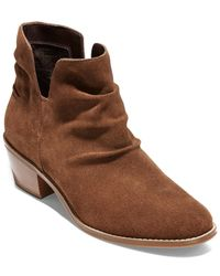 Cole Haan Alayna Slouch Suede Bootie - Brown