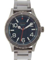 Nixon - 46 Stainless Steel Watch, 45mm - Lyst