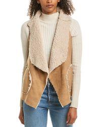 BB Dakota Easily Suede Reversible Vest (whiskey) Vest - Brown