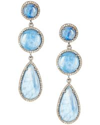 Adornia - Fine Jewellery Silver Kyanite Drop Earrings - Lyst
