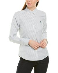Brooks Brothers Fitted Button-down Shirt - White