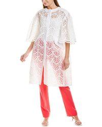 Carolina Herrera Dramatic Sleeve Coat - Multicolour