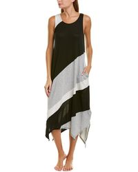 Donna Karan Asymmetrical Nightgown - Black