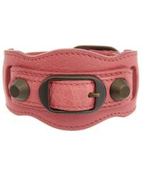 Balenciaga Classic Leather Bracelet - Red
