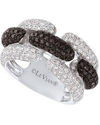 Le Vian Exotics® Vanilla Diamond® (1-1/20 Ct. T.w.) & Blackberry Diamond® (3/4 Ct. T.w.) Statement Ring In 14k White Gold - Metallic