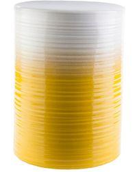 Surya Waverly 18.1in Stool - Yellow