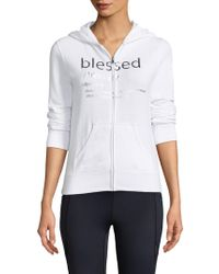 Just Live - State Of Mind Zip Up Hoodie - Lyst
