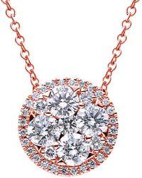 Suzy Levian 18k 0.99 Ct. Tw. Diamond & Blue Sapphire Pendant Necklace