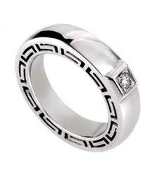 Versace 18k 0.18 Ct. Tw. Diamond Ring - Metallic