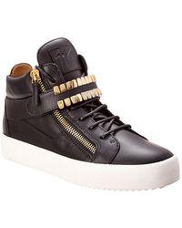 Giuseppe Zanotti Leather Sneaker - Black