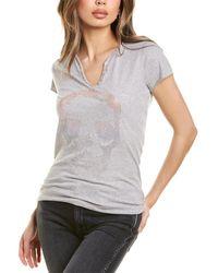 Zadig & Voltaire Tunisien Degrade T-shirt - Grey