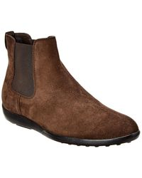 Tod's Suede Boot - Brown